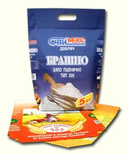 paper bag with a handle/sack/ for 5, 10, 25 kg of flour