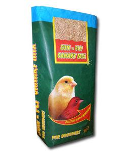 paper bag /sack/ for 25 kg of seed food for birds /canary birds/